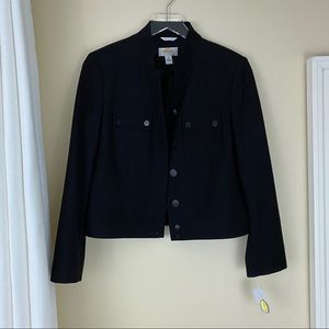 Talbots Petites Size 6 Black Wool Jacket